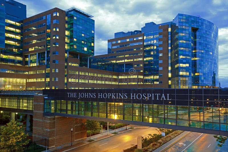 L'ospedale di Johns Hopkins fotografia stock