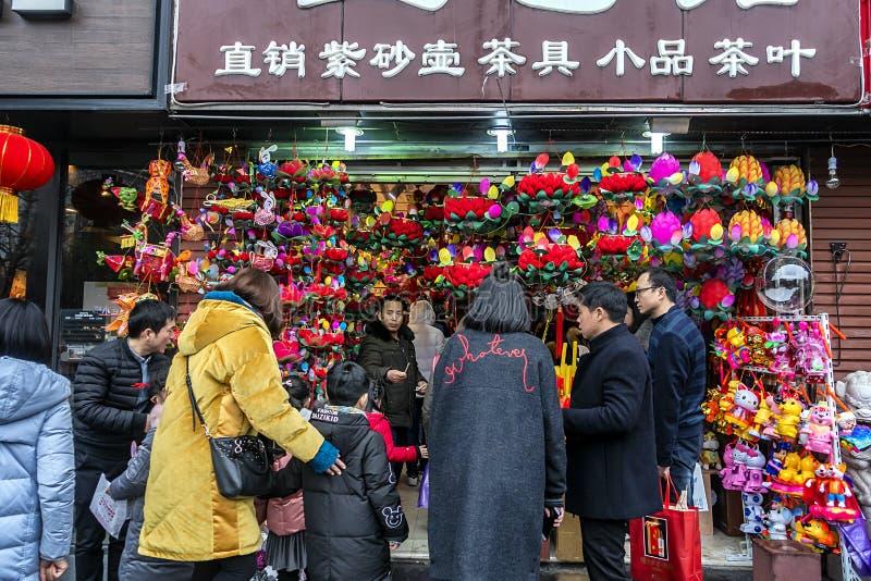 L'osservazione del nuovo anno del festival di lanterna del tempio di Confucio fotografia stock libera da diritti