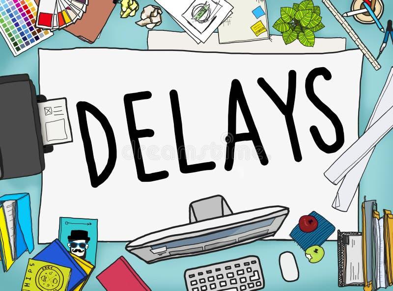 L'ostruzione recente di interruzione di ritardi sospende il concetto illustrazione di stock