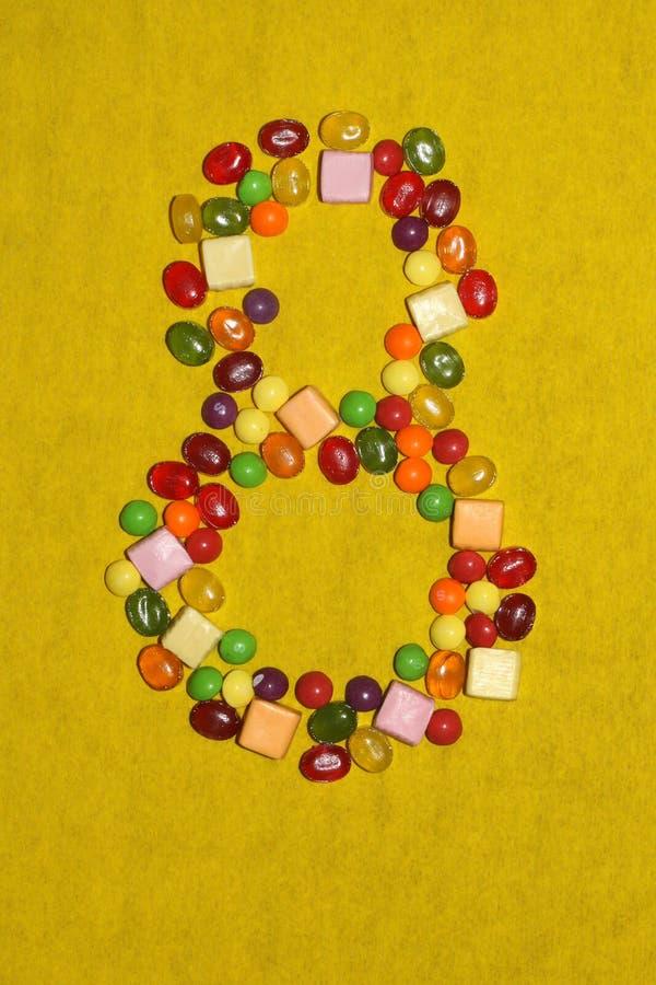 L'ottavo marzo dalla caramella e dai dolci, la tana delle donne immagine stock libera da diritti