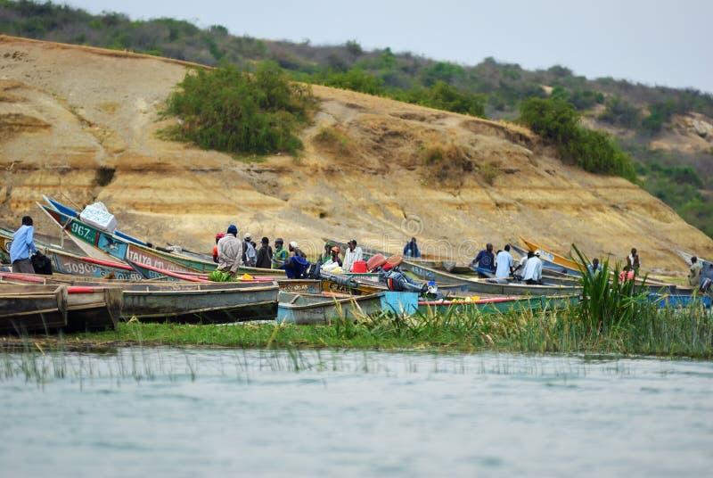 L'Ouganda, canal de Kazinga images stock