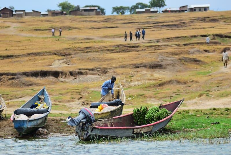 L'Ouganda, canal de Kazinga, Afrique image stock