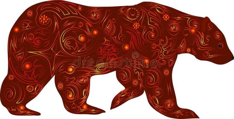 L'ours avec le dessin, un animal maladroit, un ours une illustration, un prédateur du bois, un animal va, une créature mammifère, illustration libre de droits