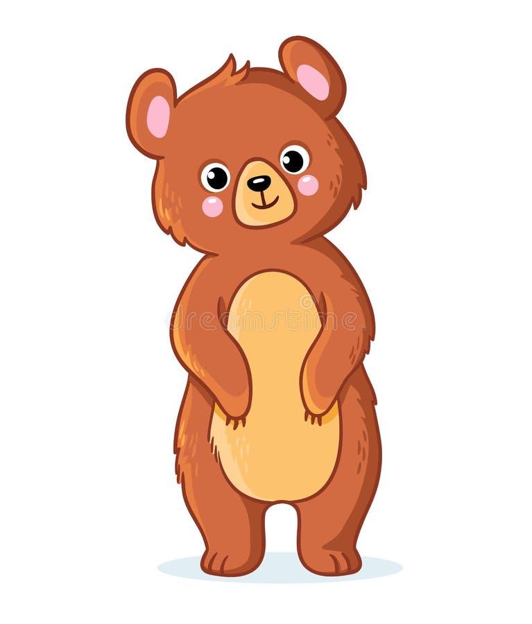L'ours de nounours se tient sur un fond blanc illustration libre de droits