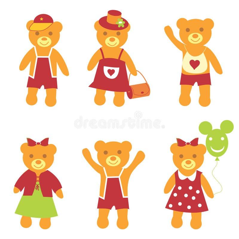 L'ours de ramassage. illustration stock