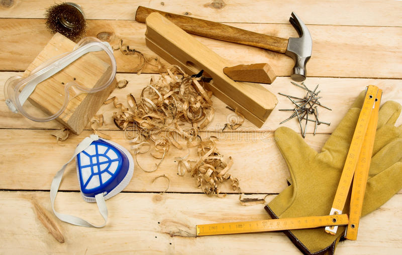 L'outil du charpentier photographie stock