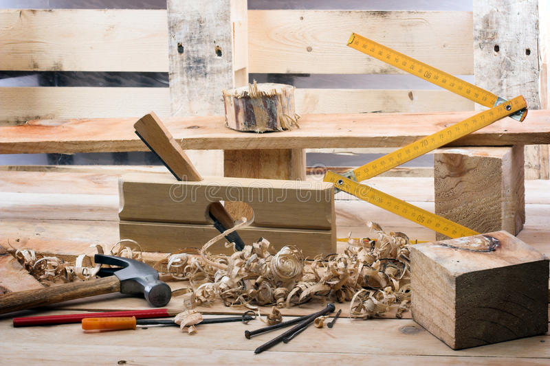 L'outil du charpentier image libre de droits