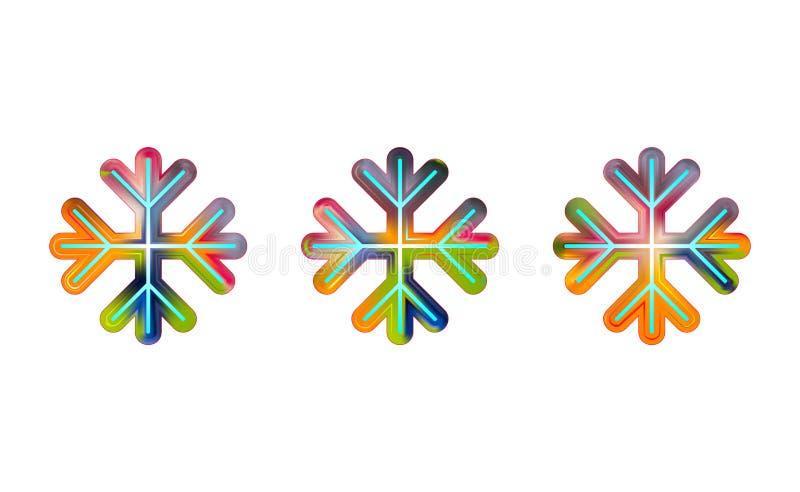 L'ovale spoglia l'icona geometrica del fiocco di neve La pendenza d'avanguardia modella la composizione Vettore dell'icona Eps10  illustrazione vettoriale