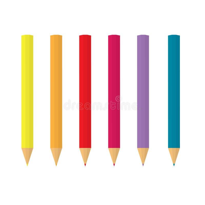 L?pices coloridos en fila libre illustration