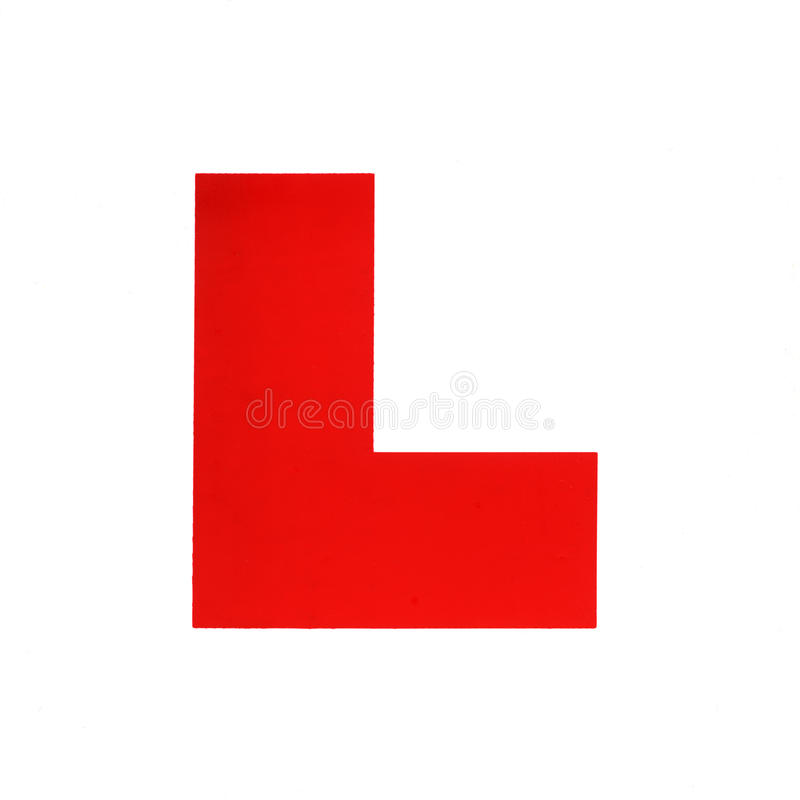 L Plate Royalty Free Stock Photography