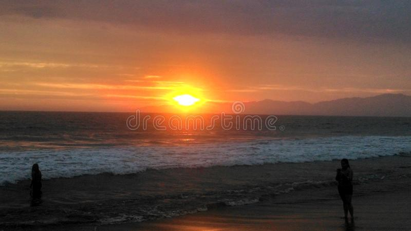 L A Puesta del sol fotos de archivo