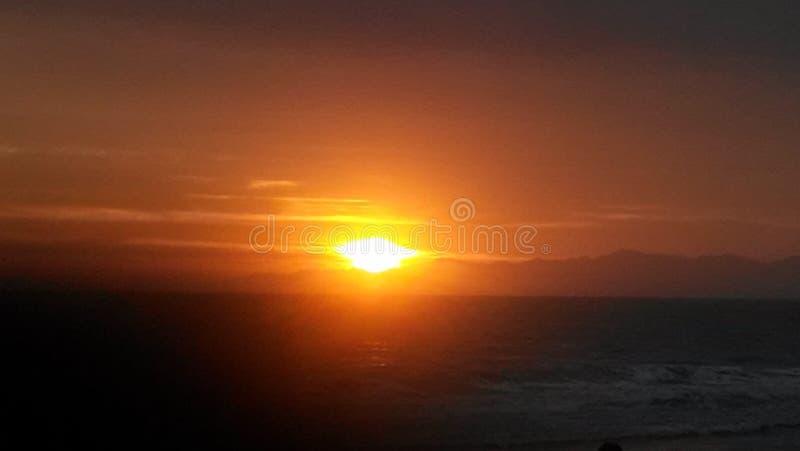 L A Puesta del sol foto de archivo