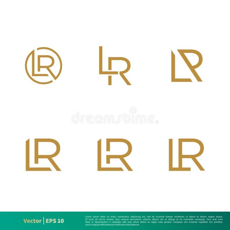 L réglé vecteur Logo Template Illustration Design d'icône de lettre de R Vecteur ENV 10 illustration stock