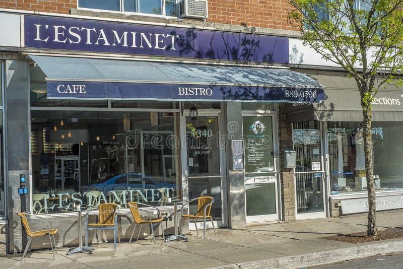 L restaurante do ` ESTAMINET fotografia de stock
