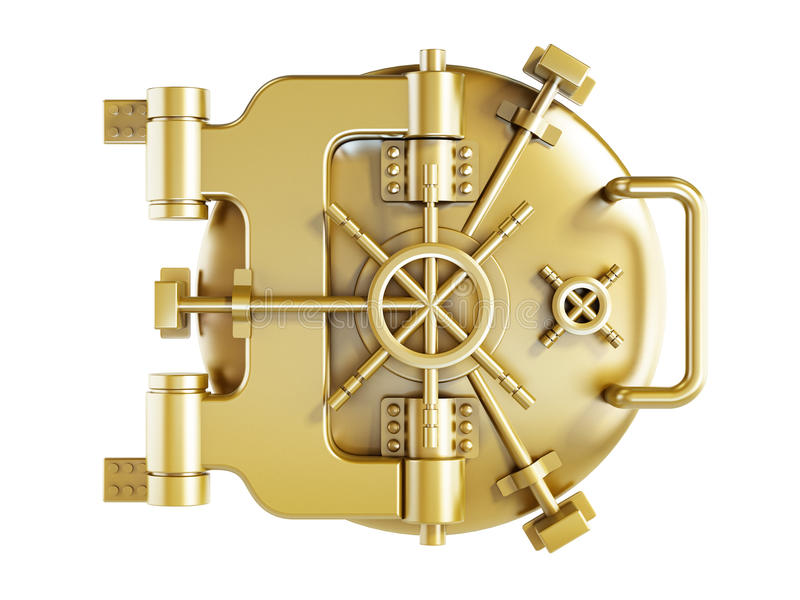L'or a sauté porte illustration de vecteur