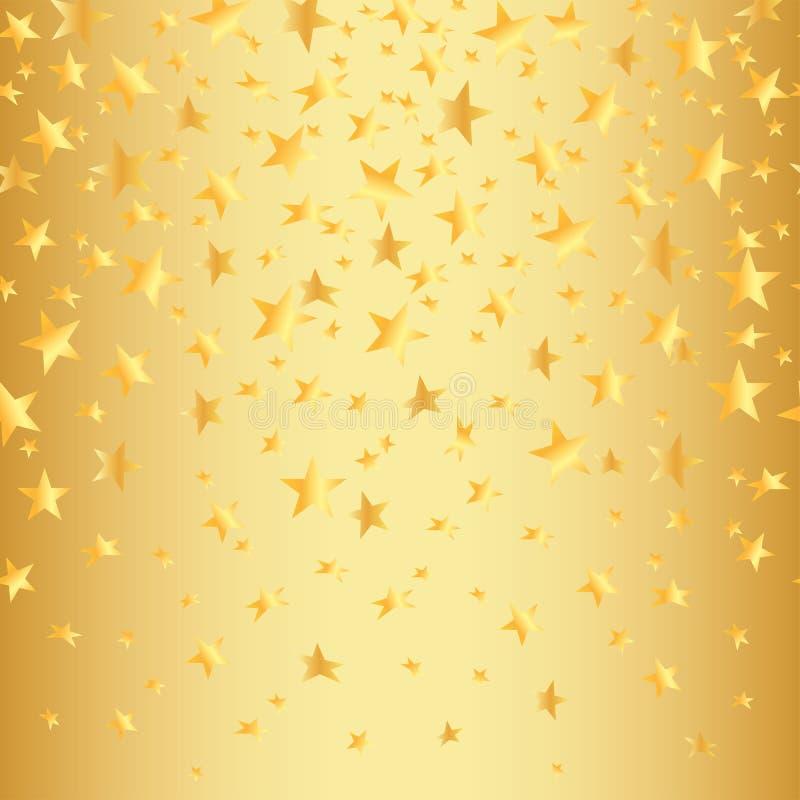 L'or se tient le premier rôle sur un fond sans couture d'or avec un gradient Illustration de vecteur illustration stock