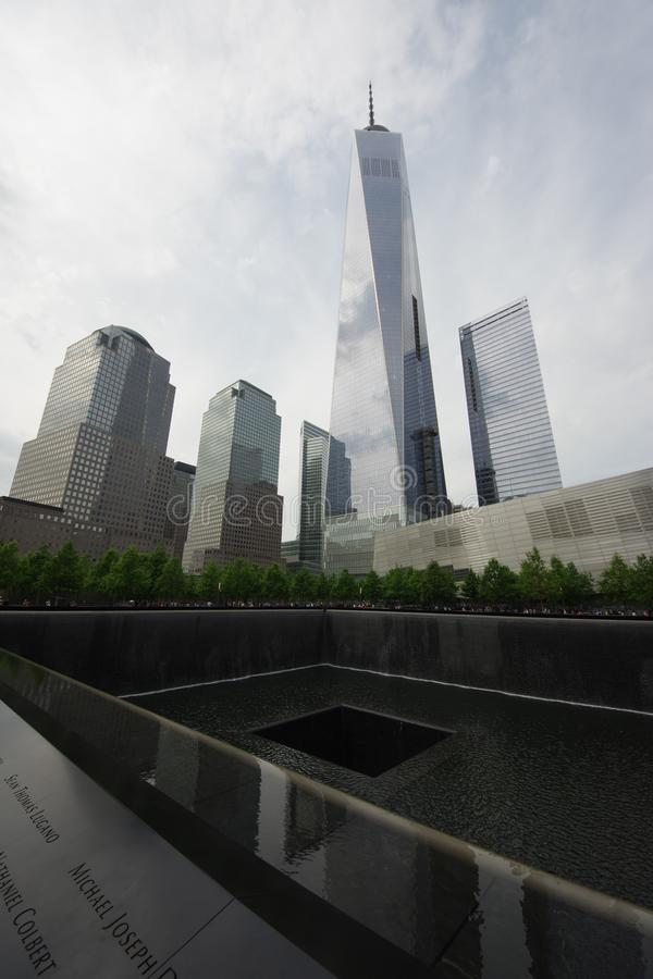 L'11 settembre nazionale 9/11 di memoriale al World Trade Center fotografia stock