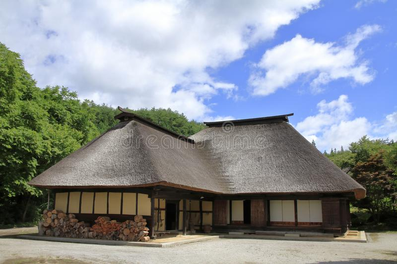 L shaped Japanese house stock photography
