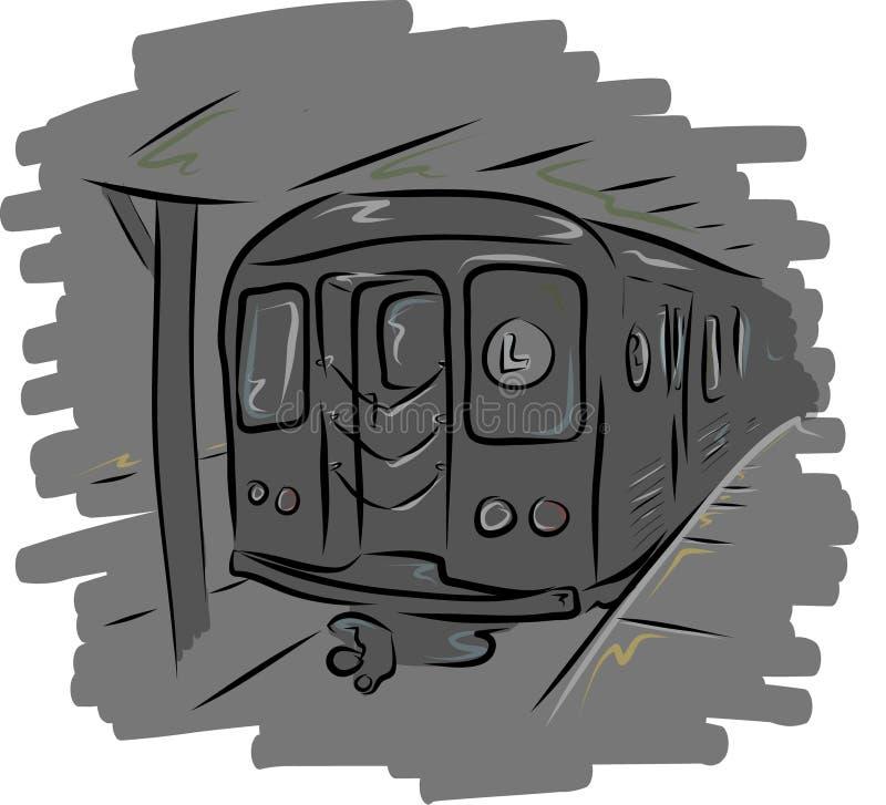 L sottopassaggio del treno immagini stock libere da diritti