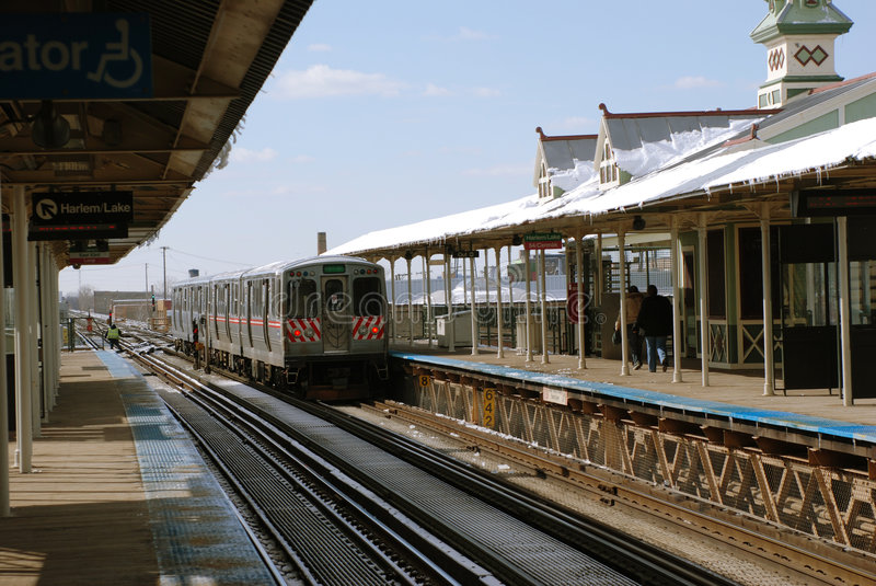 L-Train departs royalty free stock images