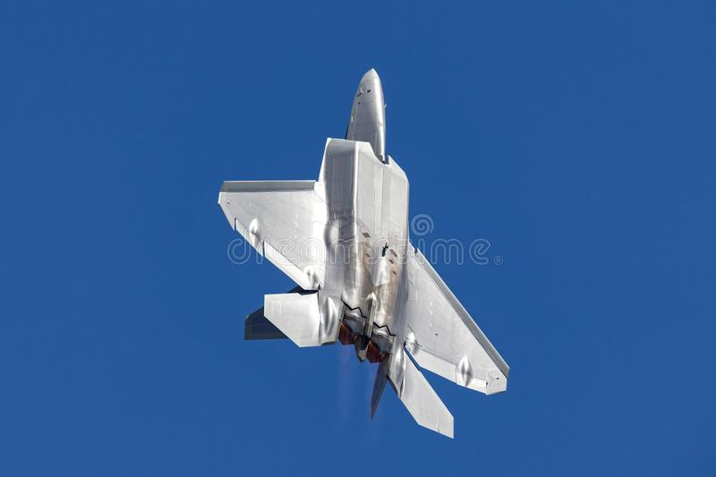 L'U.S. Air Force Lockheed Martin F-22A Raptor de cinquième génération, simple-Seat, bi-moteur, combattant tactique d'armée de l'a photos libres de droits