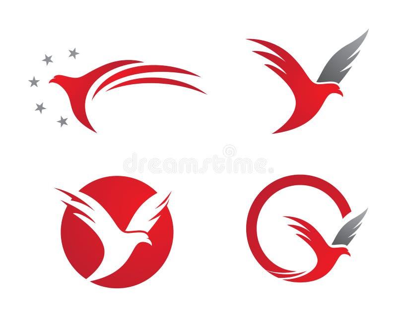 L'uccello traversa il logo volando
