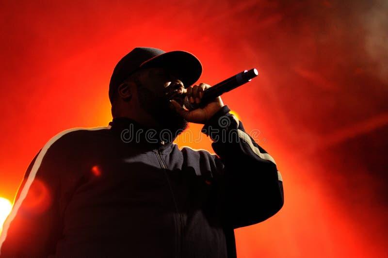 L'uccisore Mike, un rapper, esegue al festival 2013 del suono di Heineken Primavera fotografie stock libere da diritti