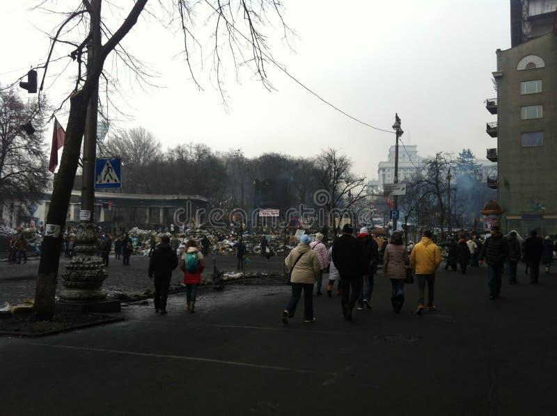 L'Ucraina 2014 Kiev Euromaydan immagine stock