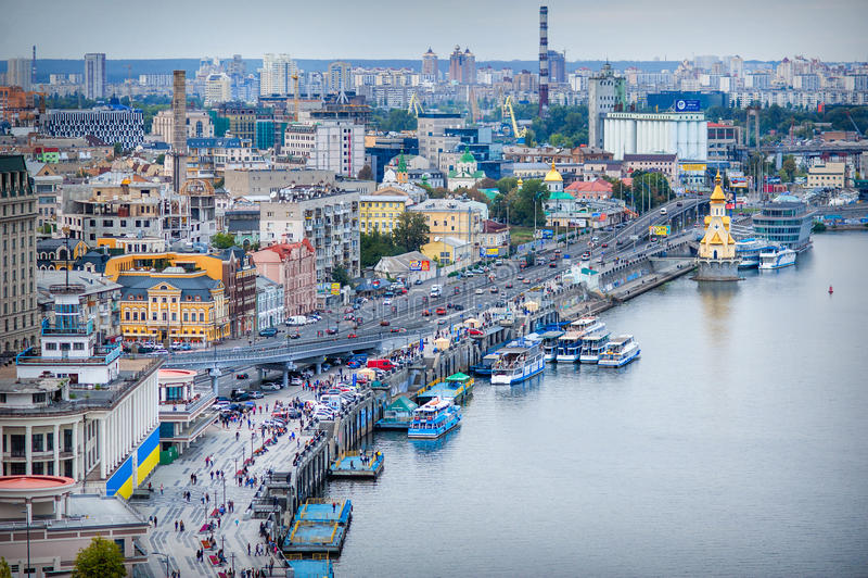 L'UCRAINA, KIEV - 12 settembre 2015: Quadrato postale immagine stock