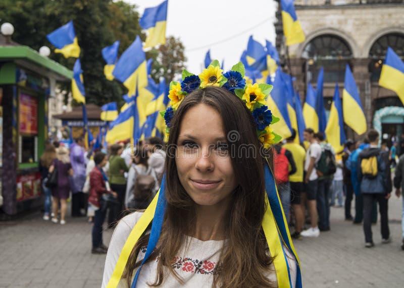 L'Ucraina - la festa dell'indipendenza immagine stock libera da diritti