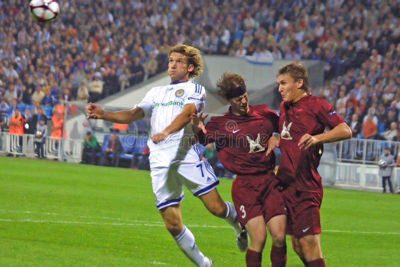 L'UEFA Champions League : Dynamo Kiev v Rubin Kazan images stock