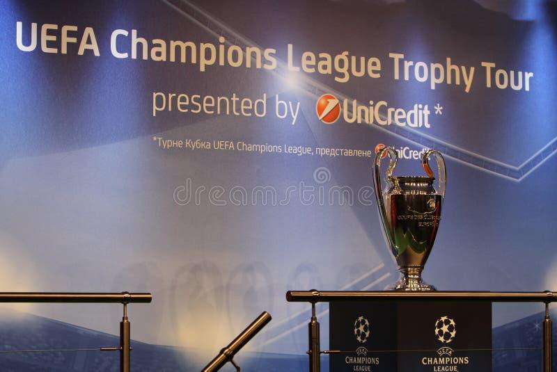 L'UEFA foggia a coppa il trofeo fotografia stock libera da diritti