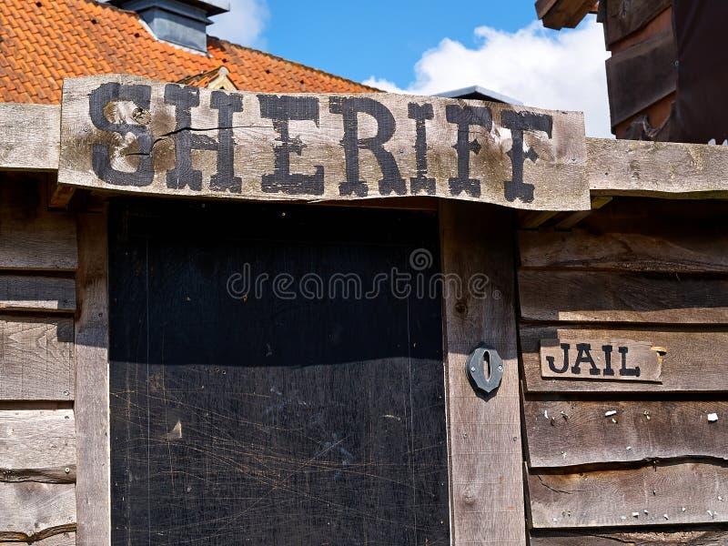 L'ufficio dello sceriffo occidentale anziano di stile immagine stock