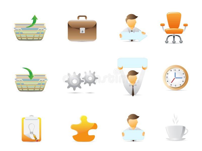L'ufficio farcisce le icone royalty illustrazione gratis