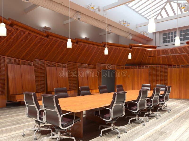 L'ufficio fotorealistico rende illustrazione 3D Sala riunioni immagini stock