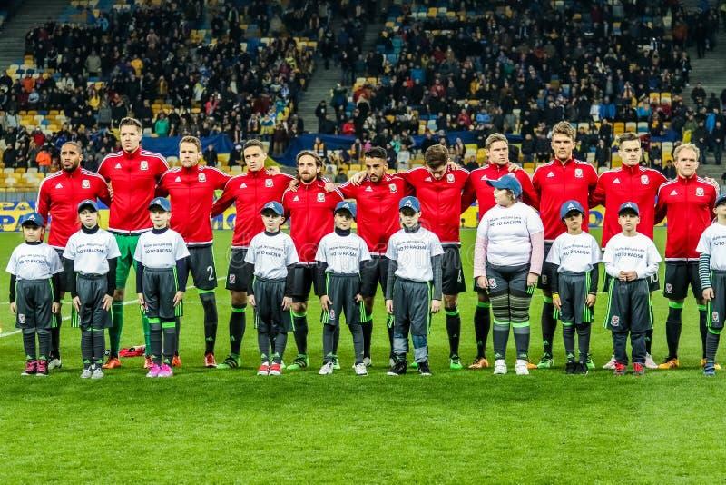 L'Ukraine contre le Pays de Galles photo stock