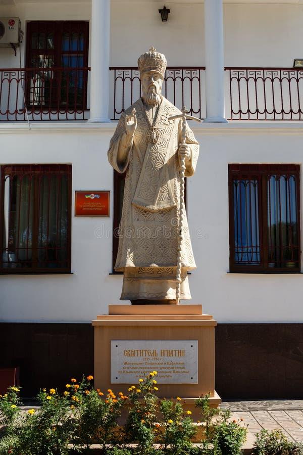 l'ukraine mariupol Centre grec Statue de St Ignatius image stock
