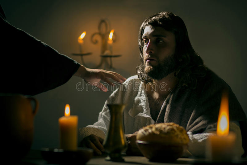 L'ultima cena di Jesus Christ fotografie stock libere da diritti