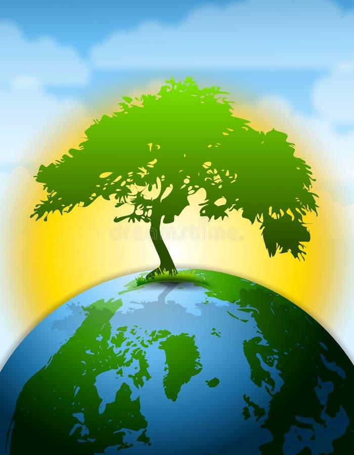 L'ultimo albero su terra illustrazione di stock