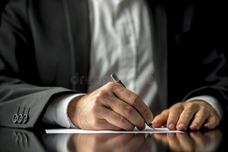 L'ultimo documento del testamento e  fotografia stock