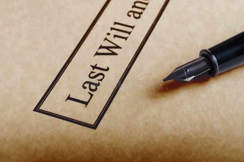 L'ultimo e testamento immagini stock libere da diritti