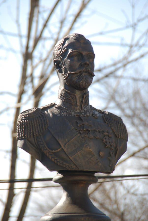 L'ultimo imperatore russo Zar Niccolò II Monumento nella città di Vladivostok La Russia fotografie stock libere da diritti