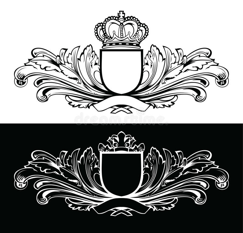 L'un Roi Frames de couleur illustration stock
