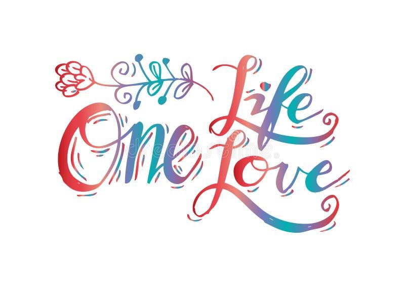 Download L'une vie, un amour illustration stock. Illustration du retrait - 87707089