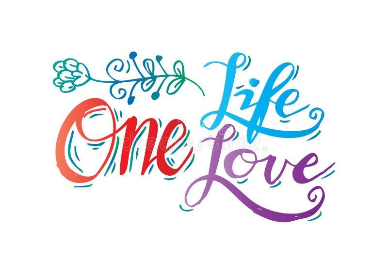 Download L'une vie, un amour illustration stock. Illustration du amour - 87707165