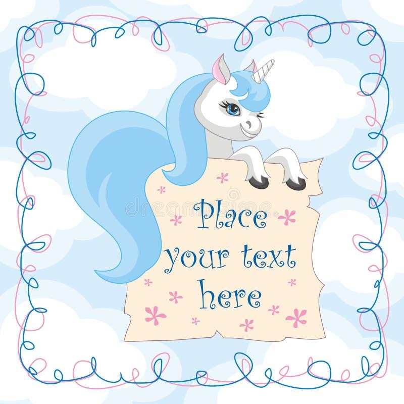 L'unicorno blu royalty illustrazione gratis