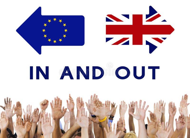 L'Union européenne de congé de Brexit Grande-Bretagne a stoppé le concept de référendum photographie stock libre de droits