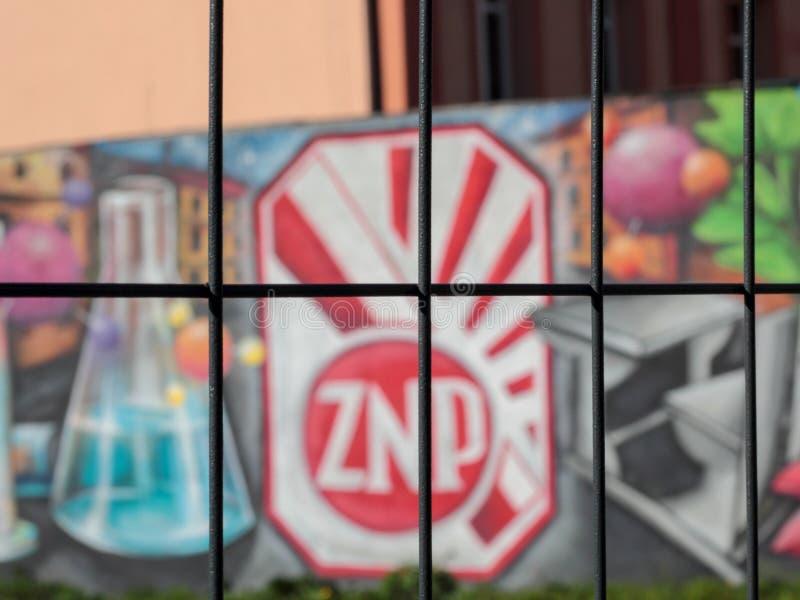 L'unione degli insegnanti polacca, Chorzow fotografia stock