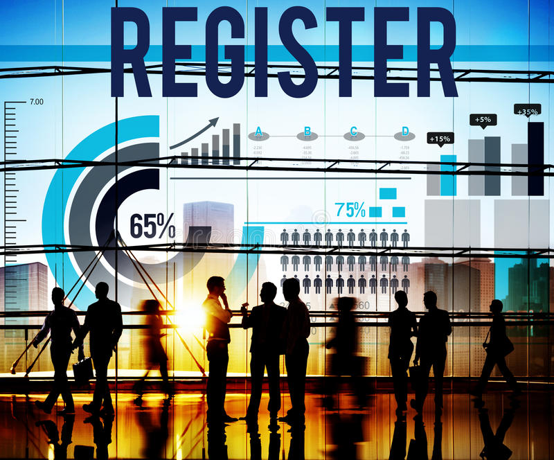 L'unire di Subcribe dell'applicazione del registro applica il concetto immagini stock libere da diritti
