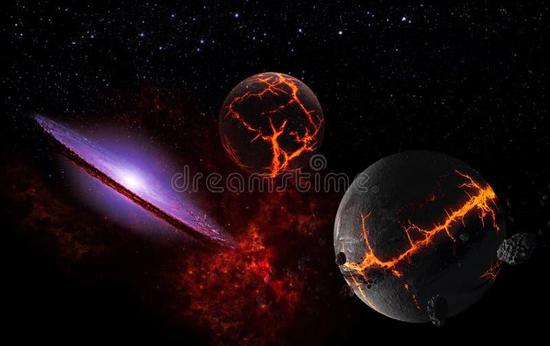 L'univers tous les matière et espace existants a considéré dans son ensemble le cosmos photographie stock